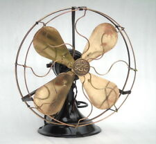Antique Brass Mesh The General Electric Witton England Magnet Art Deco Table Fan