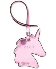 NWT Authentic COACH Unicorn Ornament Bag Charm in Metallic Pink ~ GIFT BOXED $30