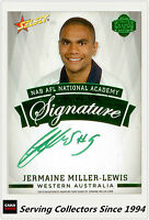 2014 Select AFL Future Force GREEN Signature Card FFRS17 Jermaine Miller-Lewis