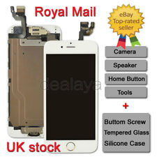 """LCD Touch Screen For iPhone 6 4.7"""" Replacement Digitizer White Gold Home Button"""