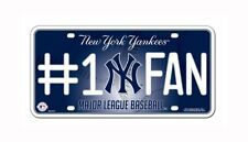 New York Yankees #1 Fan Metal License Plate Tag Wall Sign Cave FAST SHIP