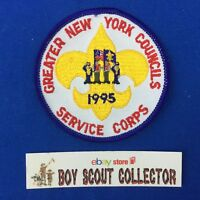 Boy Scout 1995 Greater New York Councils Service Corps Patch