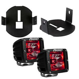 Rigid Radiance LED Fog Light Kit Red Backlight for 06-14 Ford F150 46527 20202