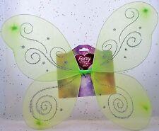 "14""x 15"" Fairy Wings Green Princess Dress Up Ailes Pretend Costume Halloween BFR"