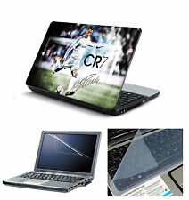 Laptop Skin CR7 with Screen Guard and Key Board Protector (3in1 Combo)15.6""