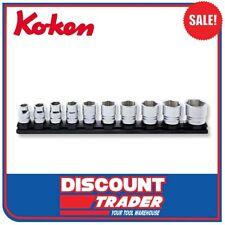 "Koken Z Series Socket Set 1/2"" Dr. 10 Peice on Magnetic Rail 10-27mm RS4400MZ/10"