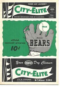 1954 Denver Bears-Lincoln Chiefs Western League Program Earl Weaver GORGEOUS!!