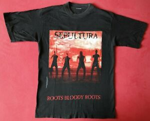 Shirt SEPULTURA - Roots Bloody Roots + Gr. L (Soulfly Testament Megadeth Slayer)