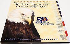 Official US Mint State Quarter Map Album Folder Includes State Flower Bird More