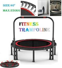 """40"""" Professional Fitness Trampoline Gym Rebounder Cardio Home Exercise Handrail"""