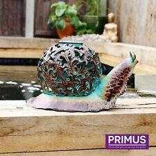 Primus Ornate Solar Snail LED Light Garden Ornament Metal Hand Painted