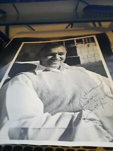 Vintage 10x13 Clark Gable Publicity Photo - MGM Star - Printed Autographed to
