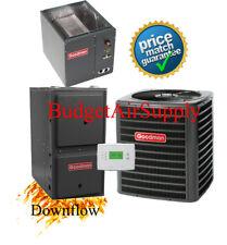 2 Ton Goodman 13 seer 80% 40K btu 2stage DOWNFLOW Gas Furnace System+Tstat