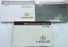 2004 Lexus Rx330 Owner's Manual W/ Supplement Factory Book Warranty Navigation