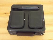 Black Leather Travel Humidor 2 Accessory / Wallet Pouch and Pen / Cigar Pouch
