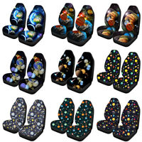 Universe Novelty Car Seat Cover Front Seat Protector Thick Elastic Soft Set of 2