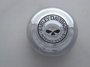 Harley Davidson Tête de Mort Corne Couverture Rond Chrome