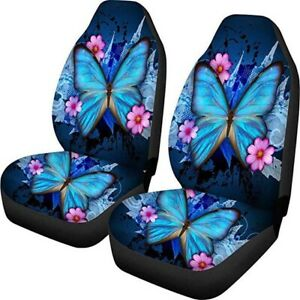 Universal Butterfly Car Seat Covers for Women Auto Interior Elastic Floor Mats
