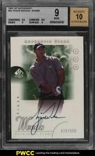 2001 SP Authentic Golf Tiger Woods ROOKIE RC AUTO /900 #45 BGS 9 MINT