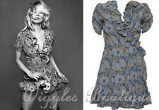 Topshop V-Neck Short Sleeve Wrap Dresses