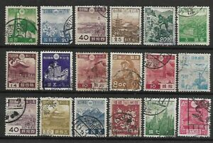 JAPAN A selection of (18) early stamps