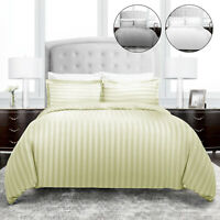 T 200 Soft Duvet Cover Quilt Bedding Set With Pillowcase Single Double King Size
