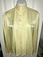 Vintage Jessica's Gunnies size 9 satin ruffle blouse