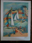 """"""" Port Of Trouville/Normandy """" Georges Zelter,Lithography Signed And No Xxv / CL"""