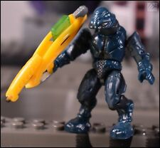 HALO MEGA BLOKS COVENANT DARK STEEL BLUE ELITE COMMANDO MINI FIGURE 97694 SCARAB
