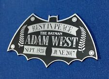 CUSTOM ADAM WEST TRIBUTE DISPLAY NAME PLATE 1966 BATMAN TV SERIES *SILVER*