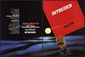 INTRUDER__Orig. 1987 Trade AD 3pg horror promo / poster__Sam Raimi__Tobe Hooper