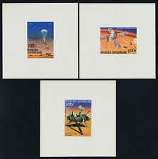 Central Africa C151-3 Deluxe Sheets MNH Space, Viking Mars Mission