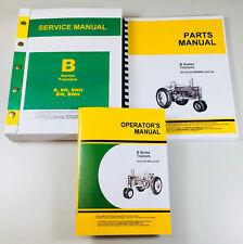 Service Manual Set For John Deere B Bn Bw Bwh Bnh Tractor Operator Parts Repair