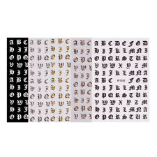 5 Pieces Self Adhesive Nail Art Stickers Letters Character Decals For Bags Books