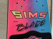 New listing VINTAGE 1988 SIMS BLADE 1711 ATV SNOWBOARD RARE SIZE 171cm So Rad!
