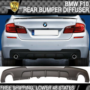 Fits 11-16 BMW F10 535I MP Style PP Rear Diffuser Twin Outlet
