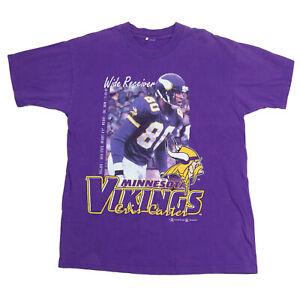 NFL Men's Purple Vintage Minnesota Vikings Cris Carter '98 T-Shirt - Size Medium