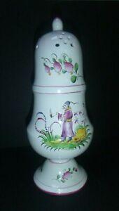 Vintage Luneville St. Clement France Muffineer Sugar Shaker Castor Faience