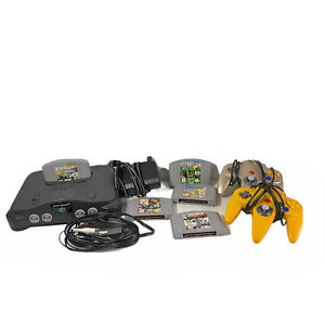 Nintendo 64 N64 System Console Game Bundle Lot 2 Controllers 5 Games All Tested