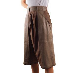 Gianni Versace Womens Vintage Leather Culottes Shorts Harem Pants M US10 US8