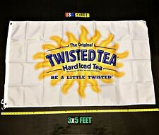 Twisted Tea Flag FREE FIRST CLASS SHIP Yellow Twisted Tea White Claw New Banner
