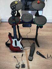 Guitar Hero PS2 + Paquete Batería Micrófono + Guitarra PS3