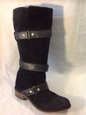 Mantaray Black Knee High Suede Boots Size 5