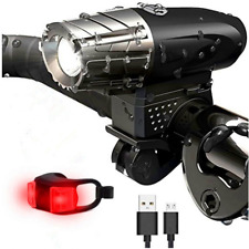 BEST Lumens LED Bike Light Set Front Rear Waterproof USB Bicycle Lights 4 Powers