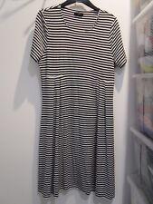 Ladies M&Co Striped Dress Size 14 (AO)