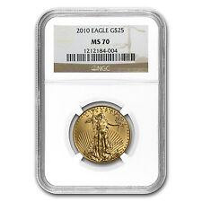 1/2 oz Gold American Eagle Coin - Random Year - MS-70 NGC - SKU #83494