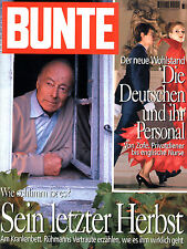 Kult-Zeitschrift BUNTE Nr. 37 v. 1994,  Heinz Rühmann Titelseite, Mi. Schumacher