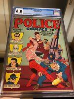 Police Comics #1 (1941) CGC 6.0 FN 1st Appearance Plastic Man & Phantom Lady