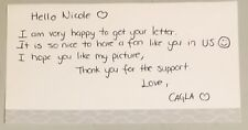 Cagla Buyukakcay 100% Authentic Autographed Letter, Tennis Superstar !