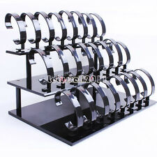24 SLOTS DESK SHELF ACRYLIC WRIST WATCH/BRACELET RETAIL DISPLAY RACK STAND